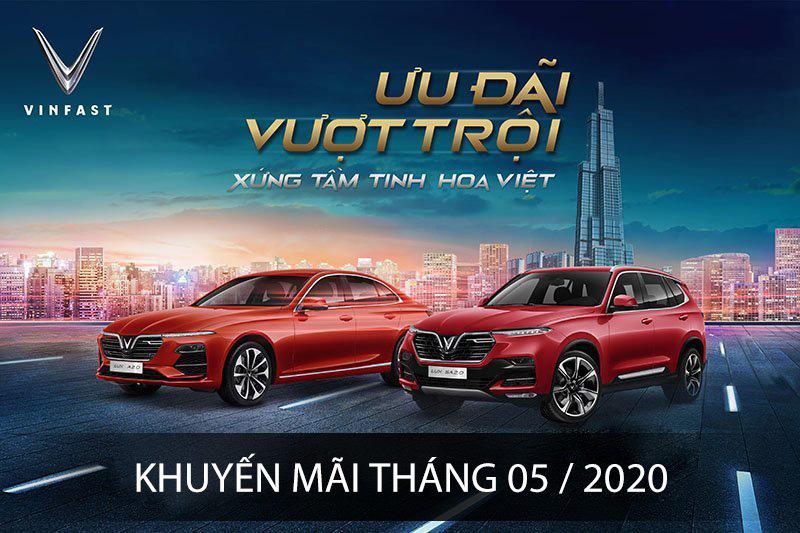 Chương trình ưu đãi xe Vinfast tháng 08/2020